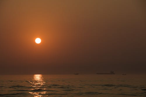 Free stock photo of night, sea, sun, sunset