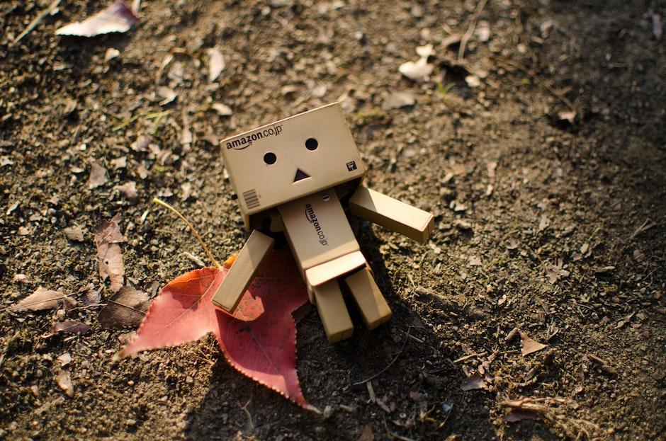 Brown Cardboard Robot Artwork