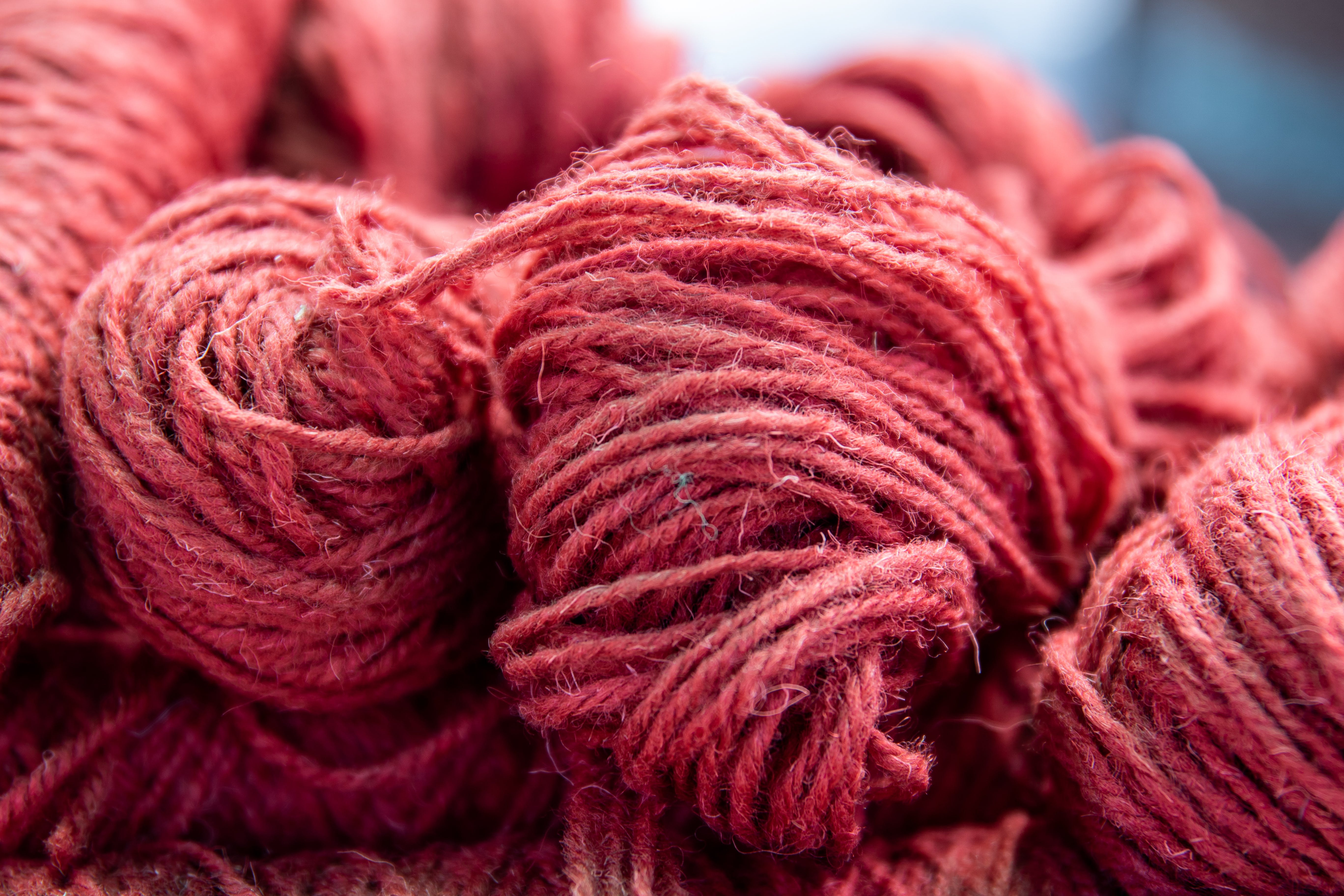 Free stock photo of background, crochet, red, texture