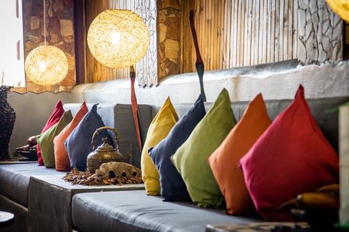 Assorted Colored Throw Pillows