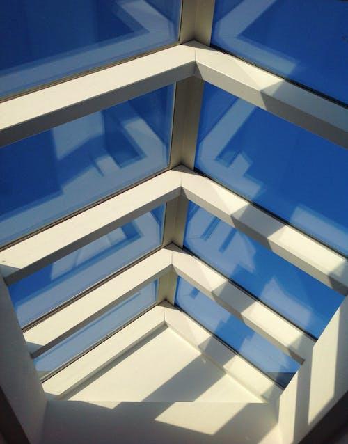 ガラス屋根, シーリングライト, ルーフ, 夕日の無料の写真素材