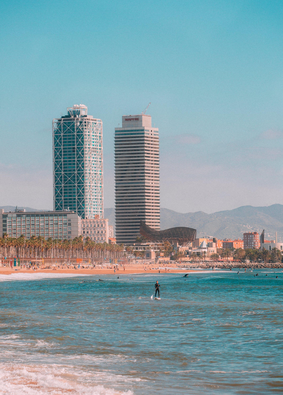 Two High Rise Buildings Near Beach