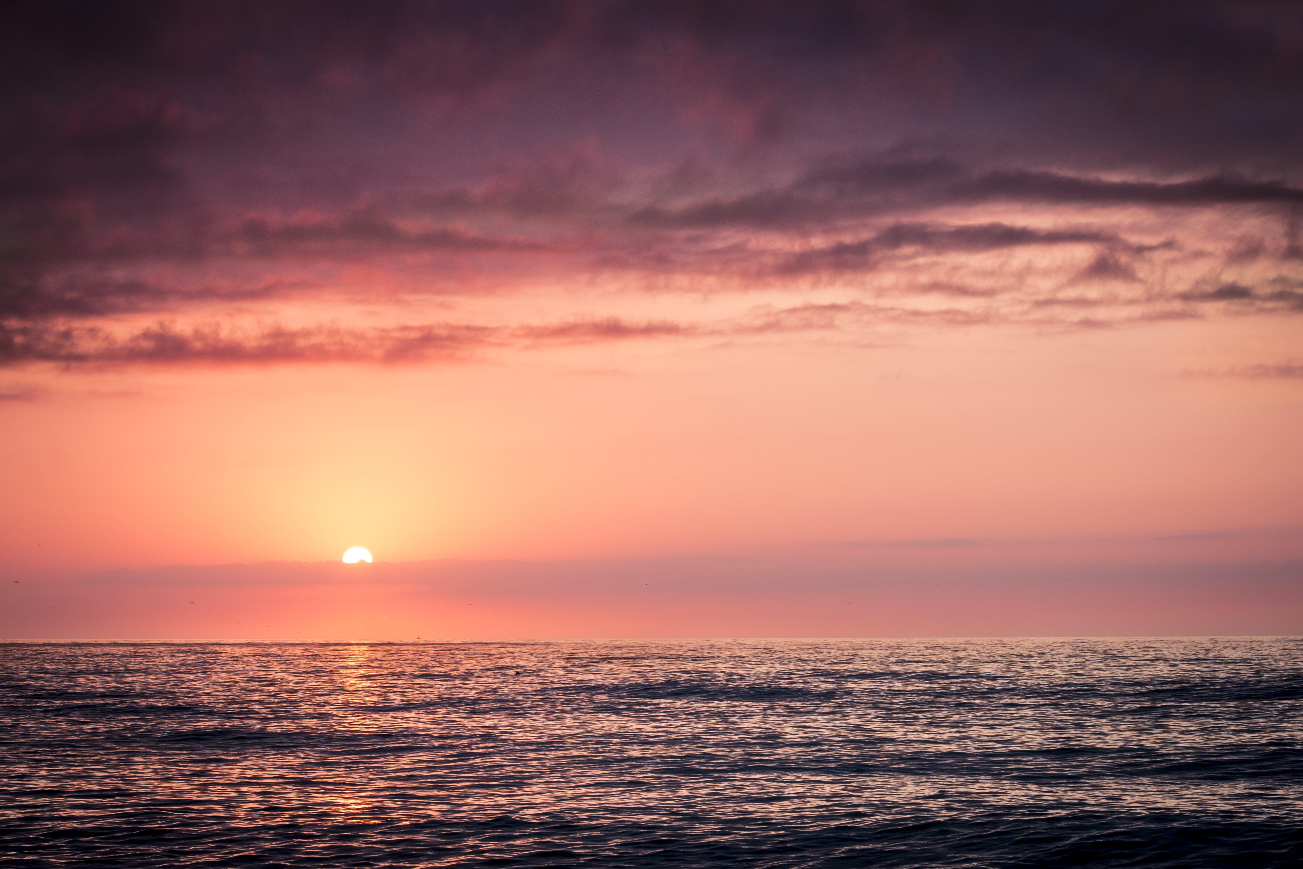 Free stock photo of sea, nature, sunset, water