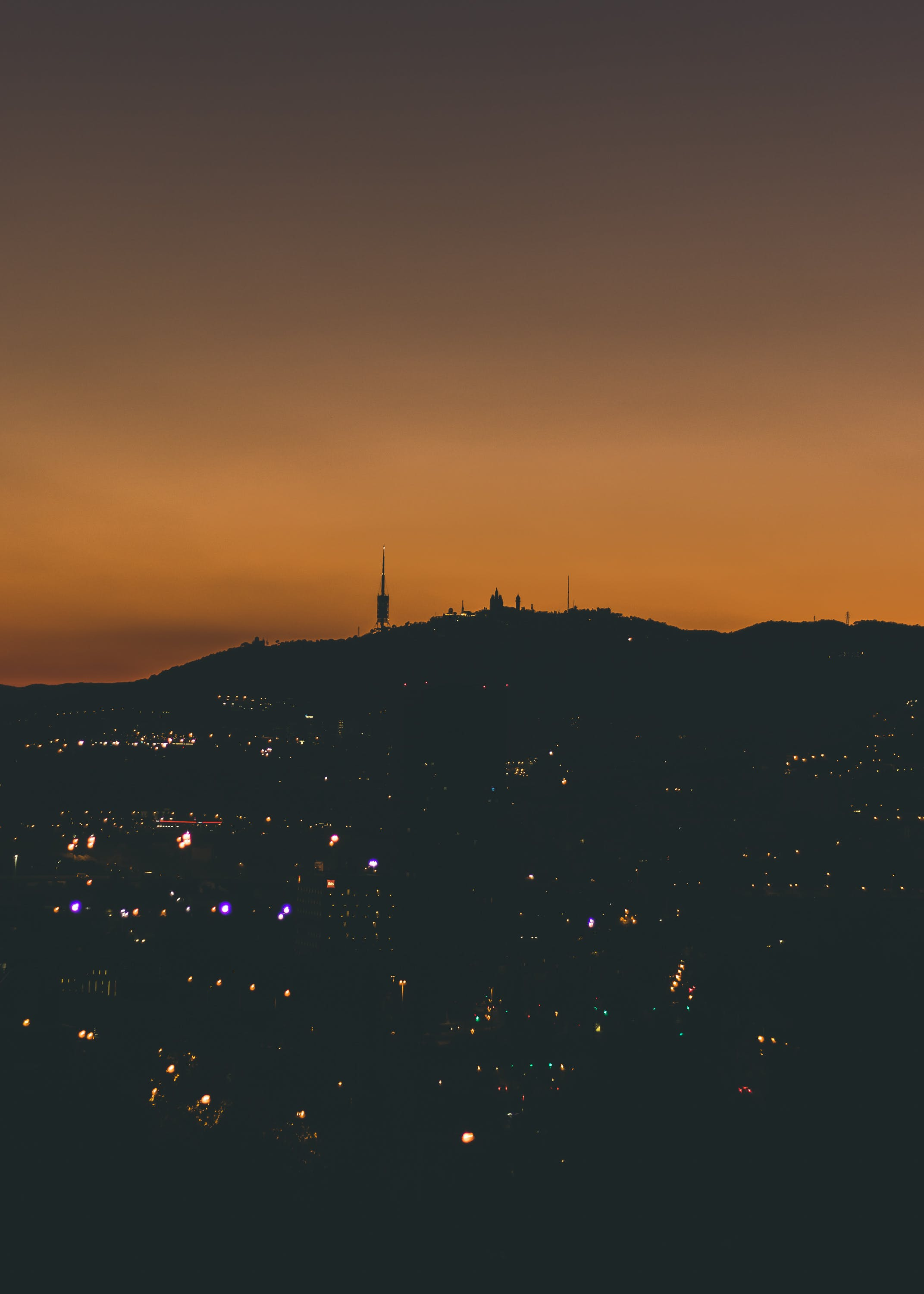 Silhouette Photography Of City
