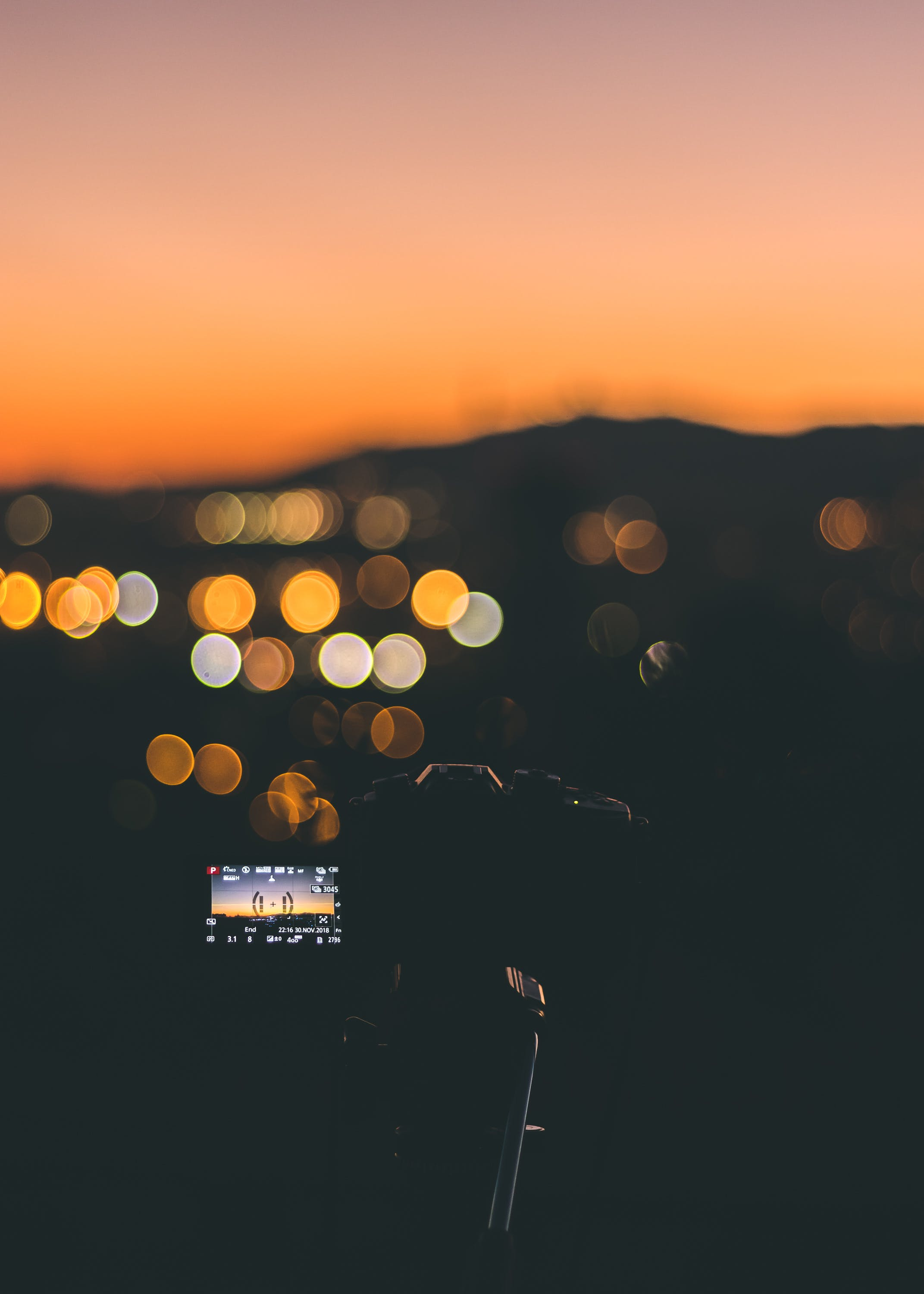 Bokeh Photography of Turned-on Camcorder