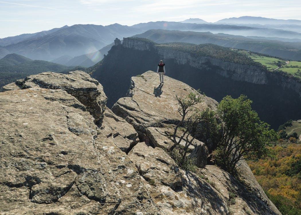 alpiniste, aventure, caillou