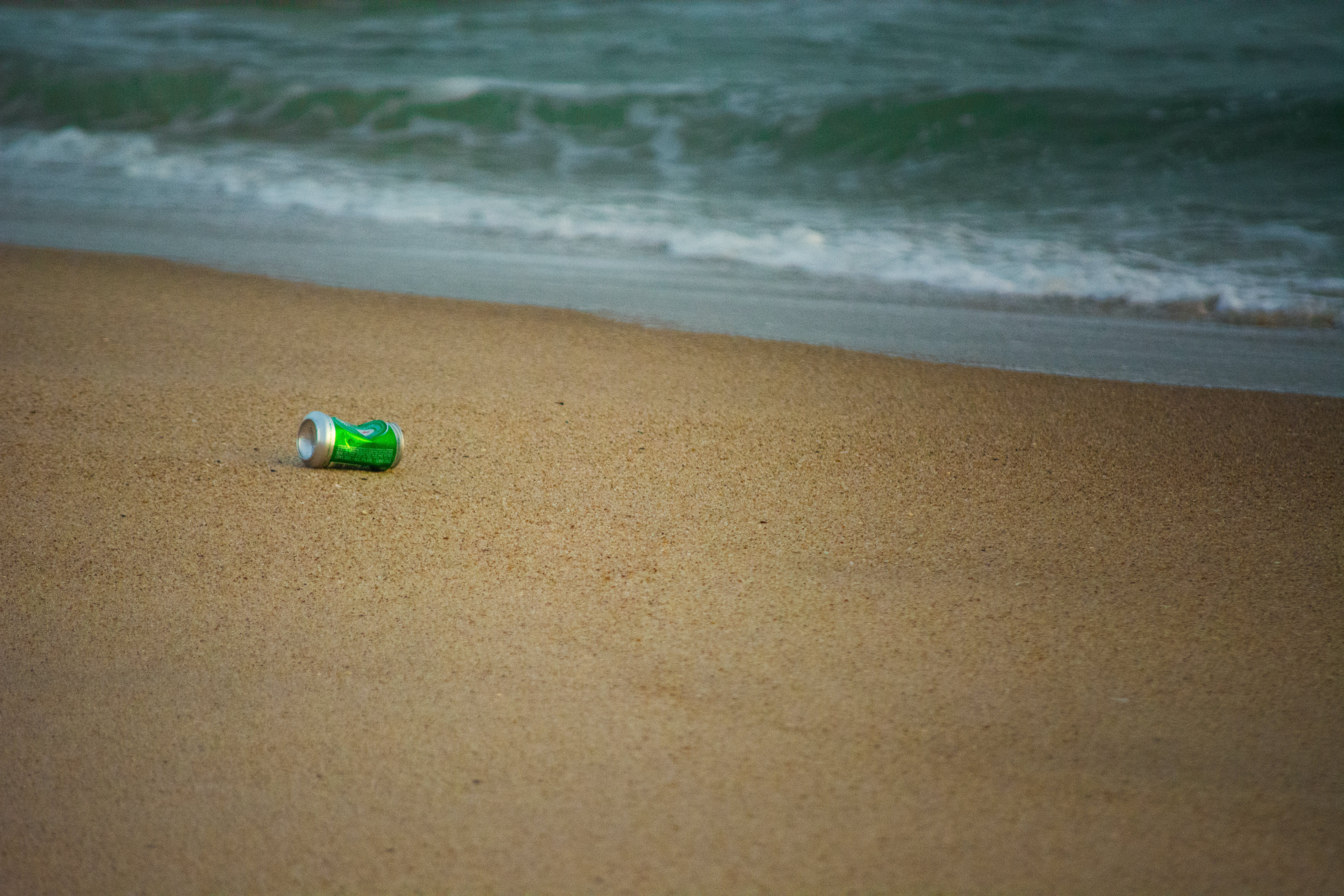 Free stock photo of can, sand, sand beach, selective focus
