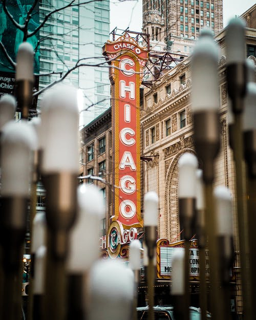 Selective Focus Photography Of Chase Chicago Signage