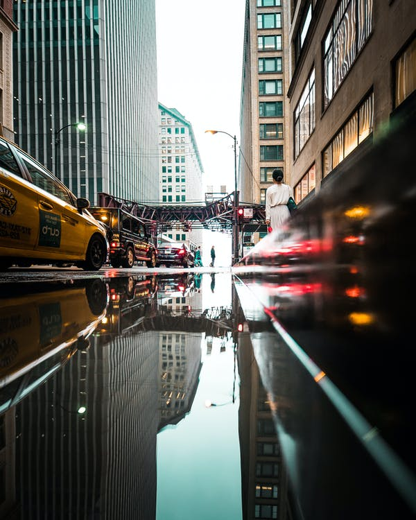 автомобілі, відображення, Вулиця