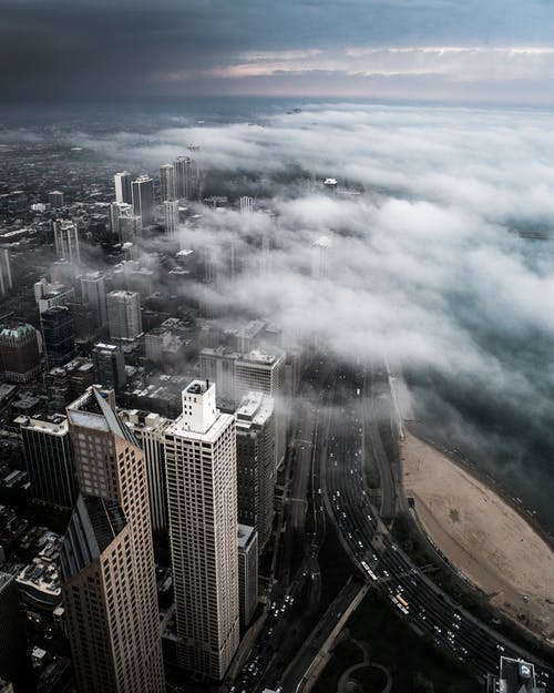 Ảnh lưu trữ miễn phí về các tòa nhà, cảnh quay drone, chicago, chụp ảnh bằng máy bay không người lái