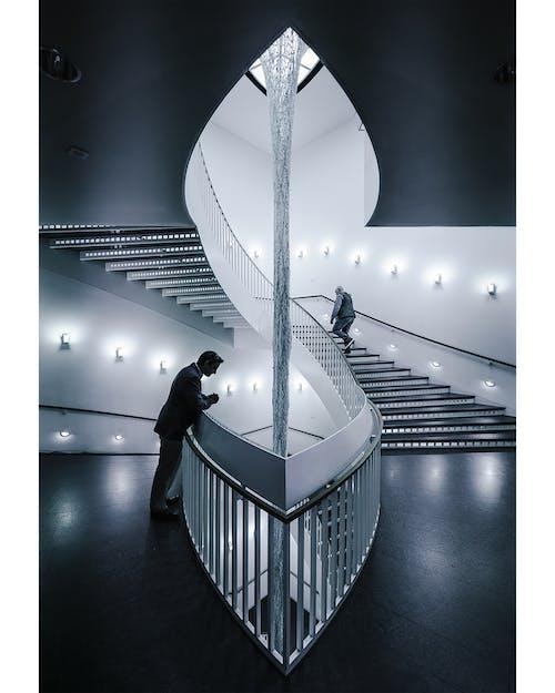 建物, 建築, 白黒, 階段の無料の写真素材