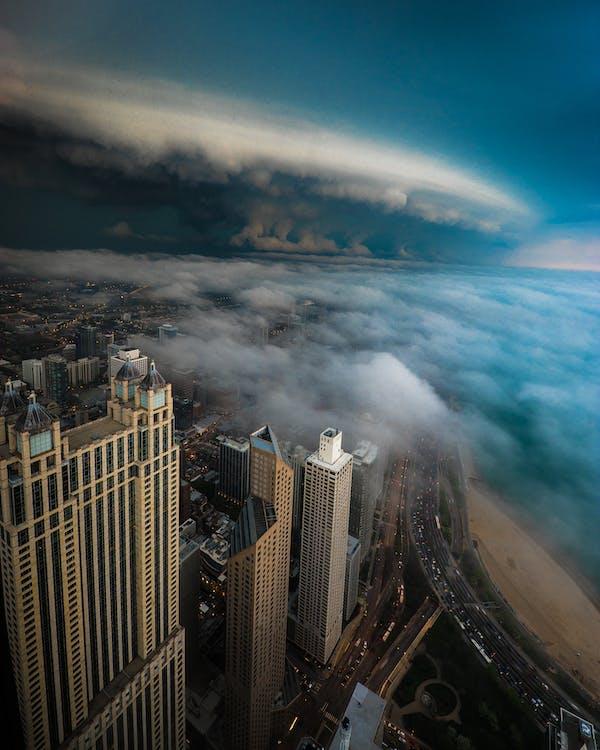các tòa nhà, chicago, chụp ảnh bằng máy bay không người lái