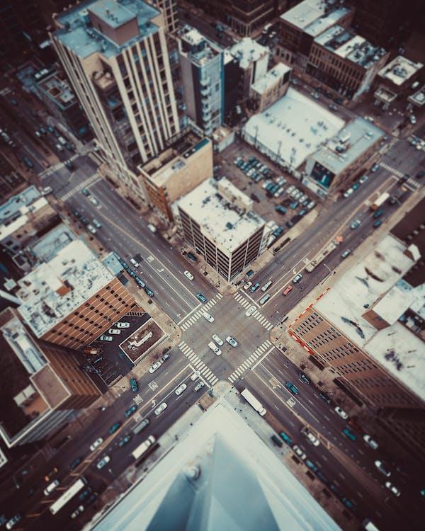bâtiments, buildings, carrefour