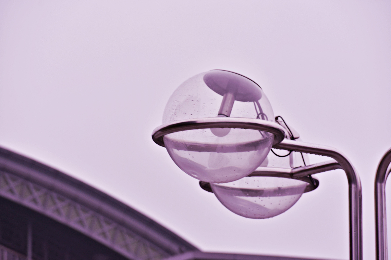 Gray Steel Framed Lamp