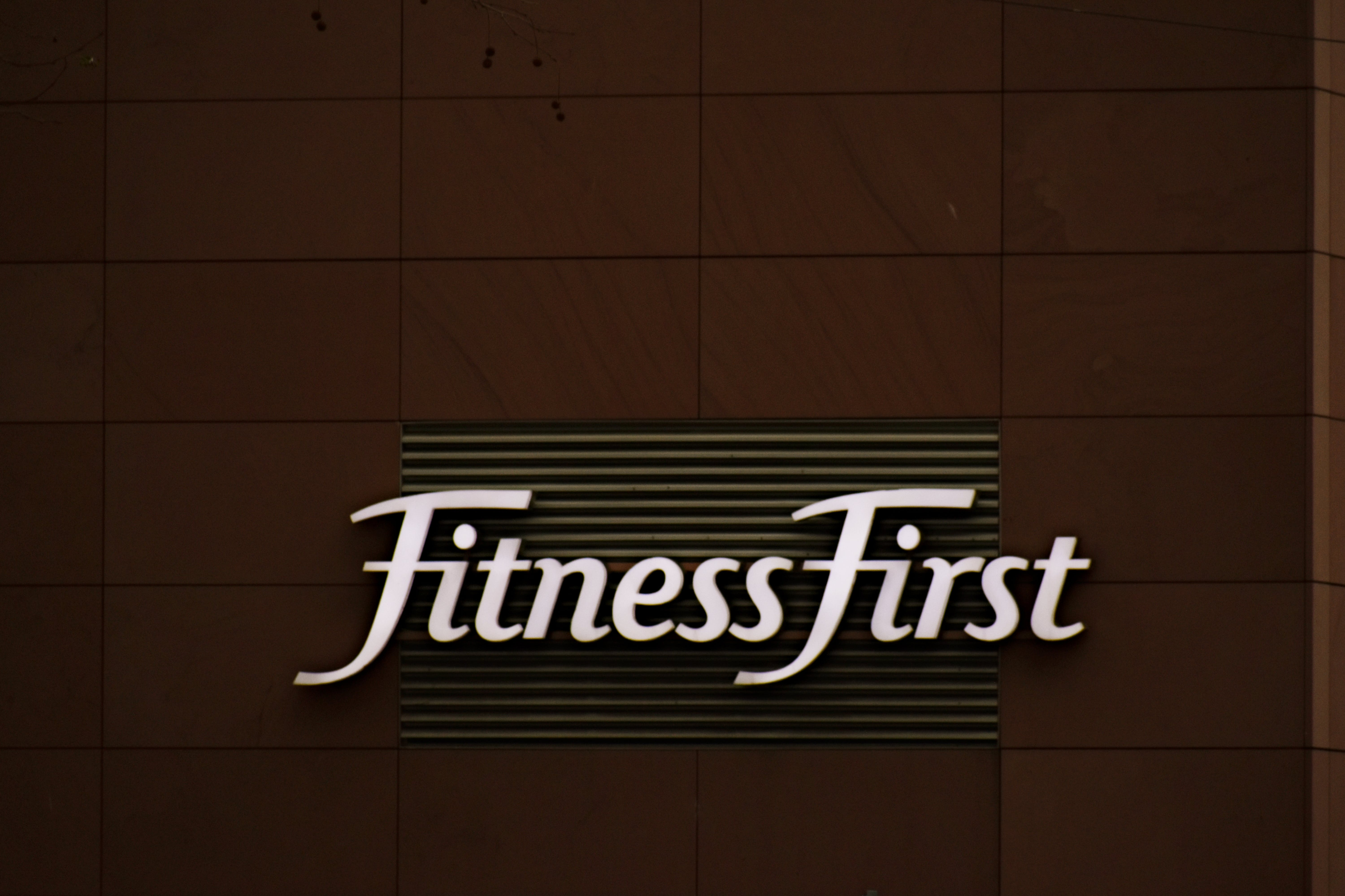 Fitness First Sign