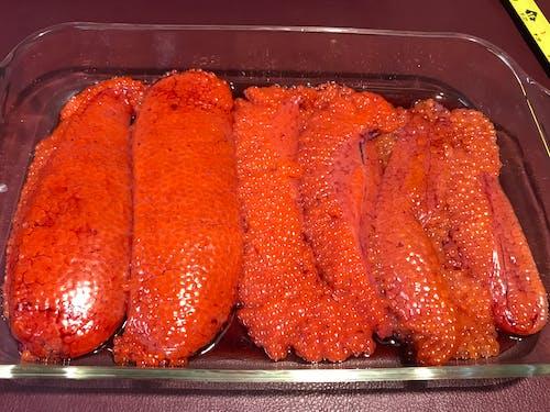Foto profissional grátis de ovas de salmão