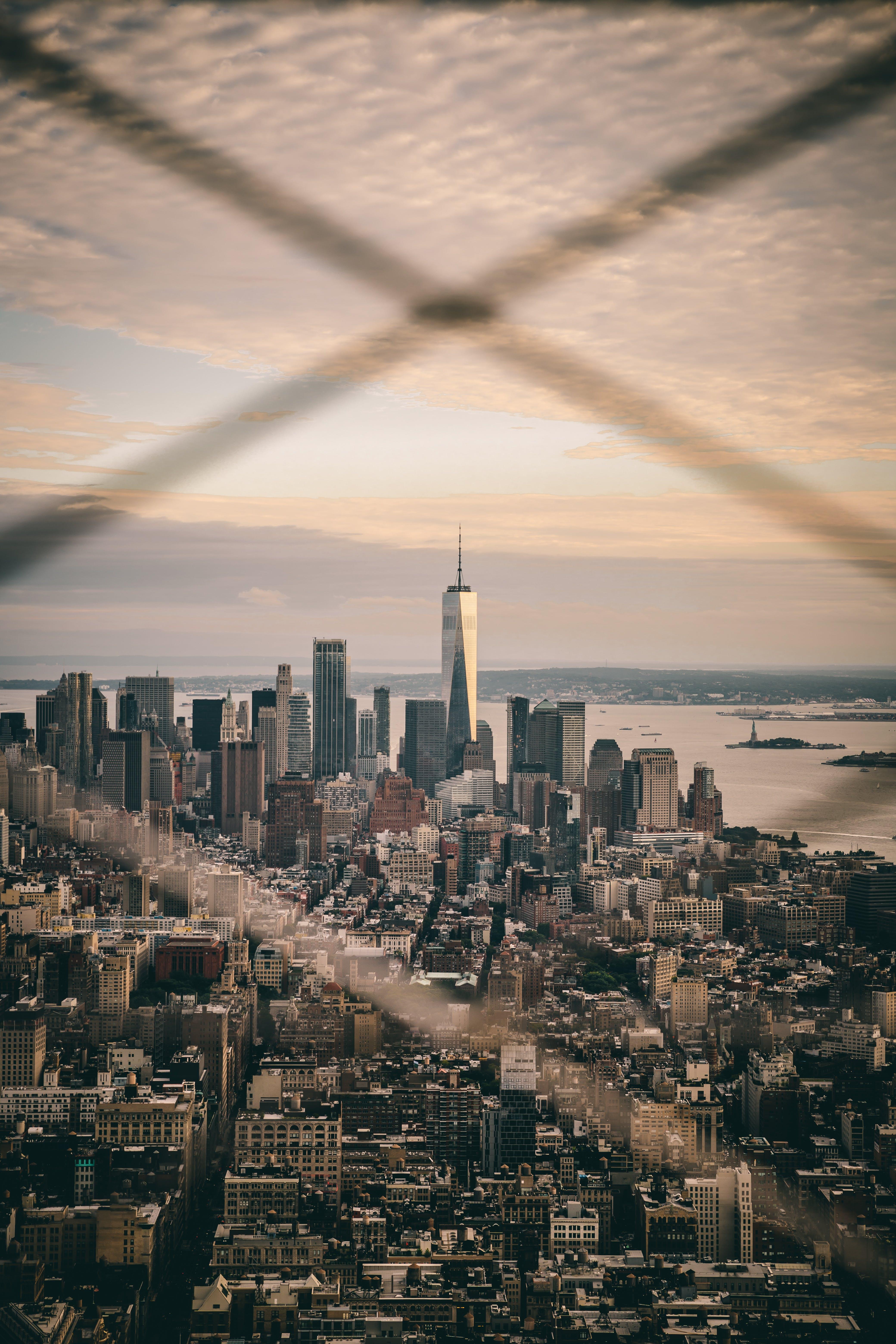 Free stock photo of city, new york, skyscraper, sunset
