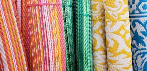 Free stock photo of blue, colorful, fabrics, green