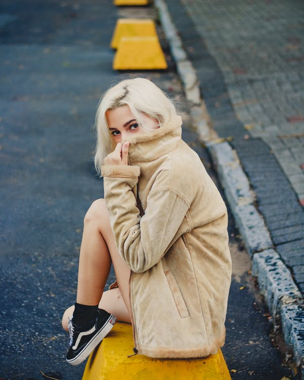 attraktiv, blond, dame