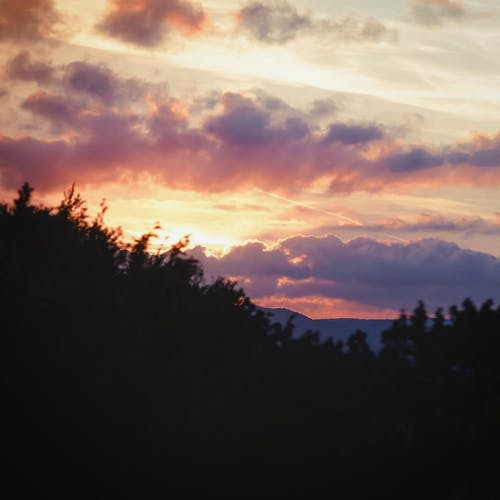 Immagine gratuita di nuvole, paesaggio, tramonto