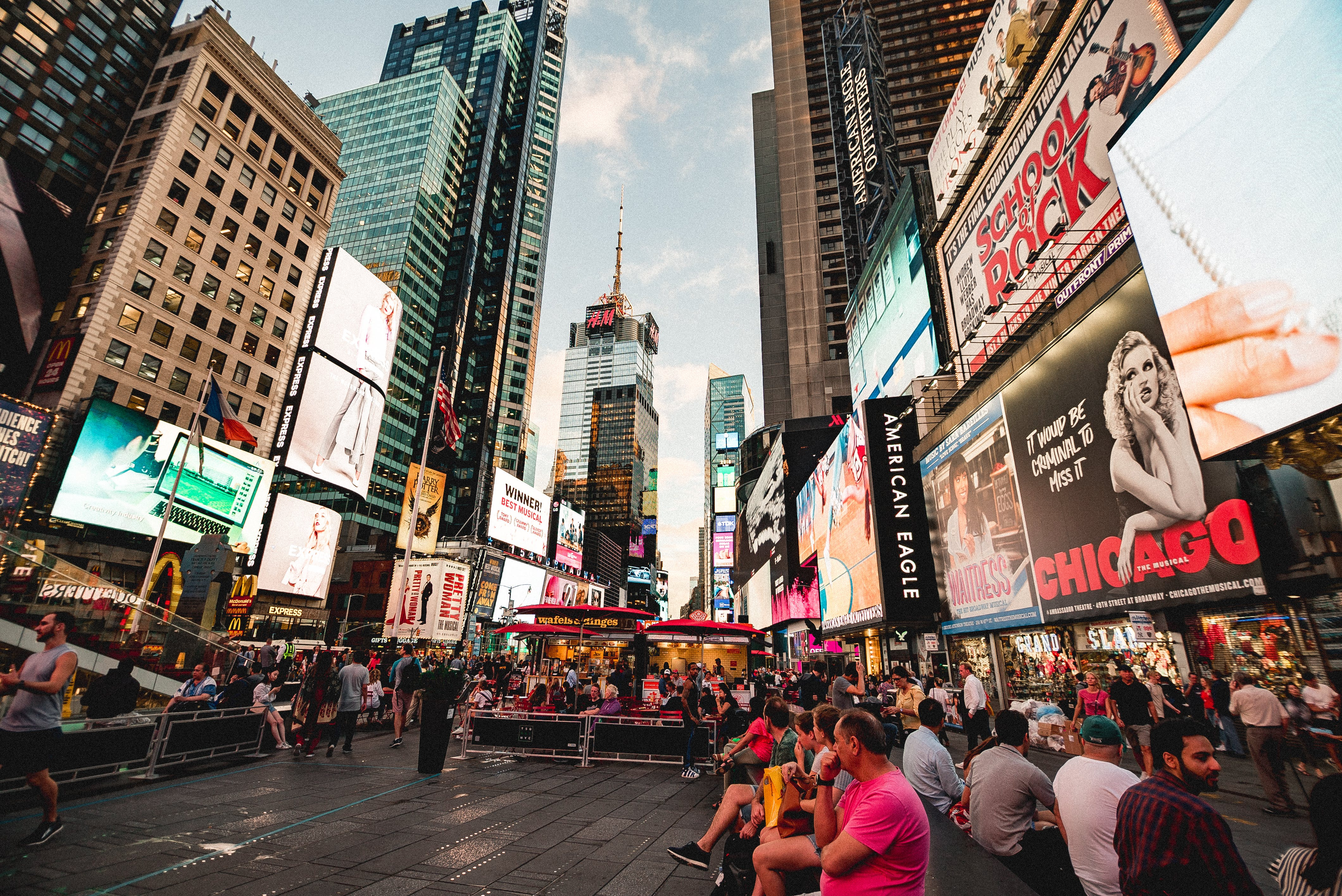 Free stock photo of new york, new york city wallpaper, times square