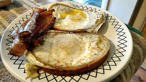 Gratis lagerfoto af bacon, mad, spejlæg