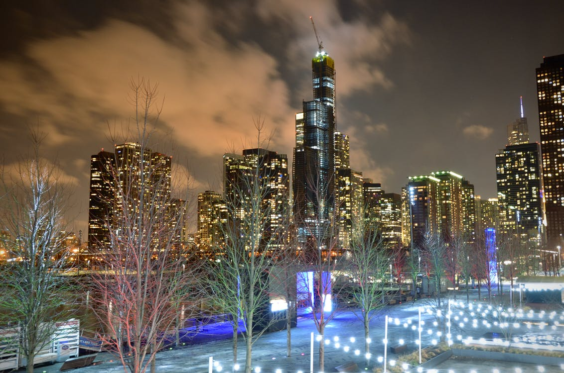 chicago, cityscape, downtown chicago