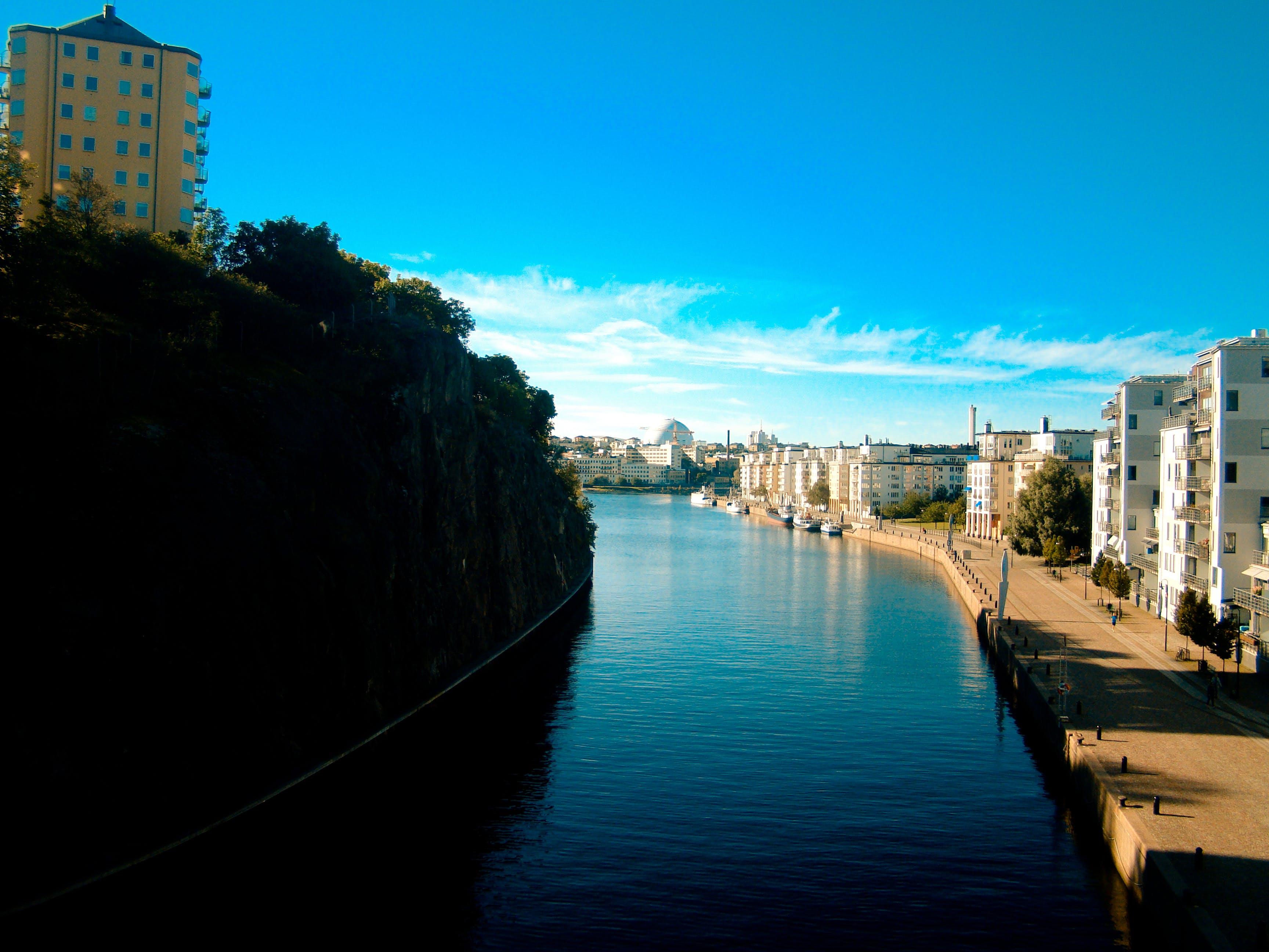 Free stock photo of city, canel