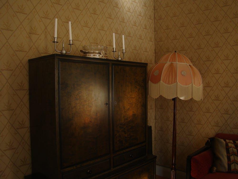 armadietto, camera, candele