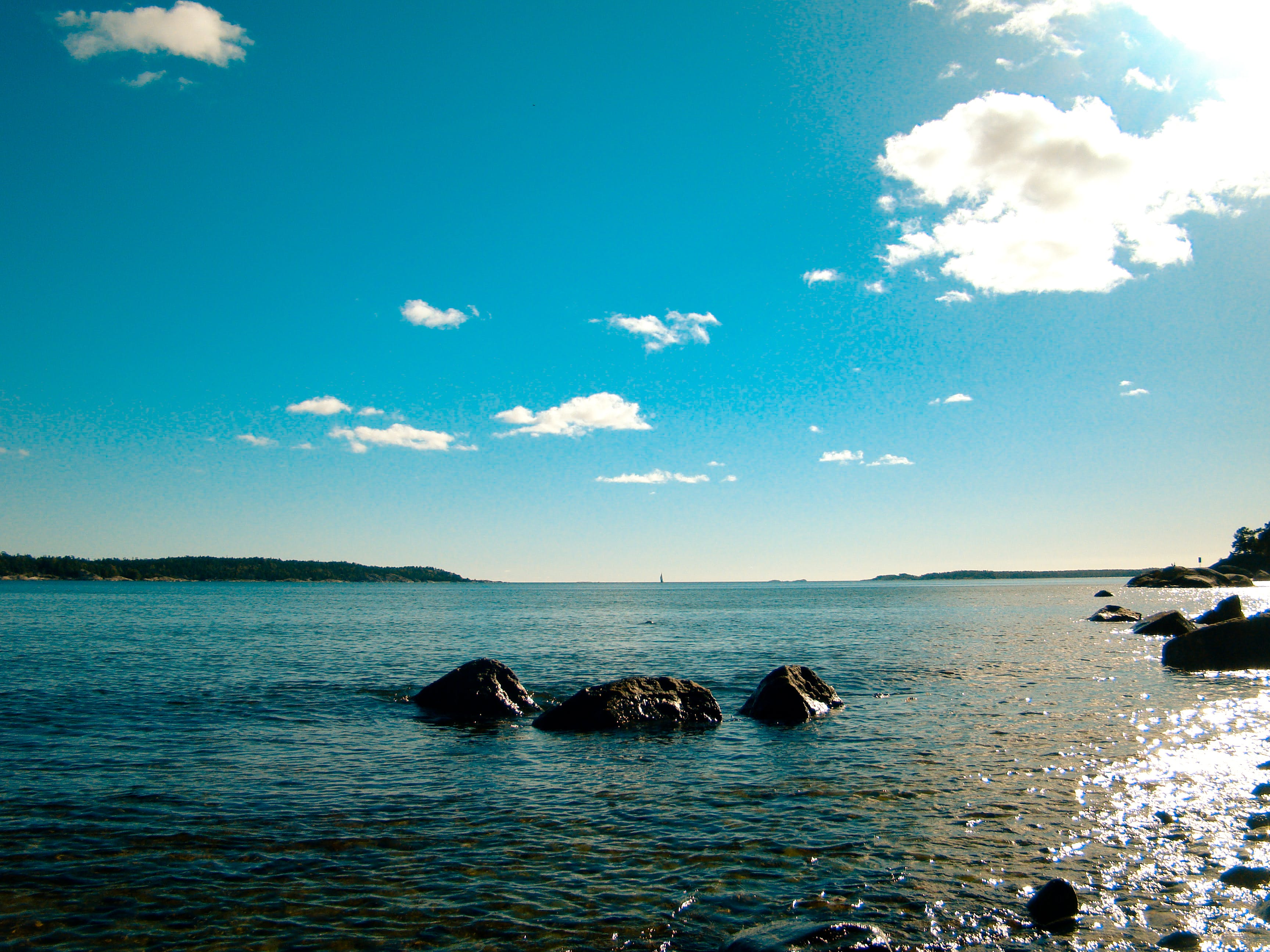Free stock photo of nature, ocean, reflex, sweden