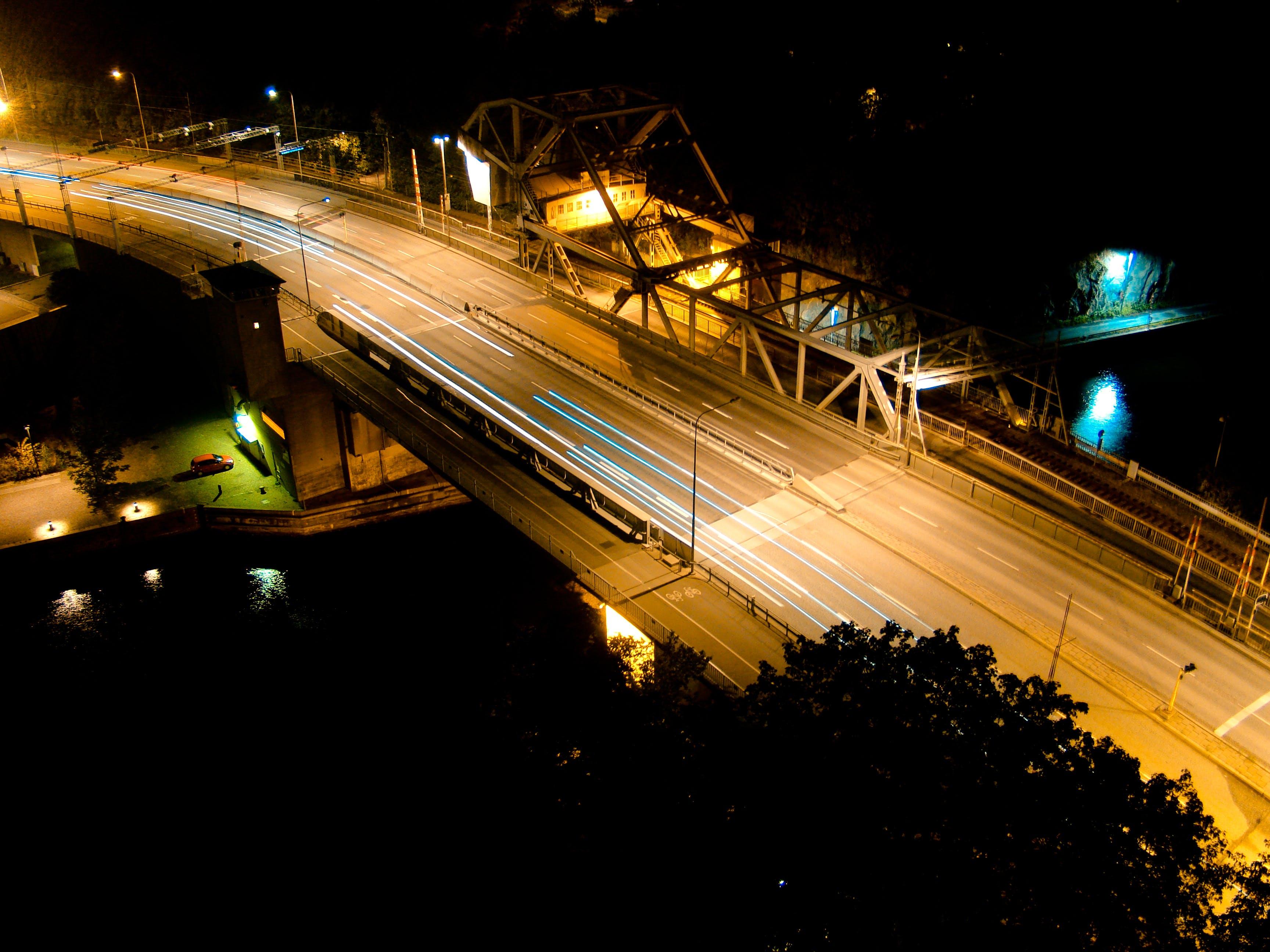 Grey Road during Nighttime