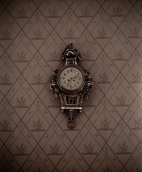 Silver Framed Analog Wall Clock
