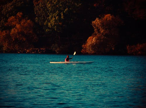 Man in Kayak on Body of Water