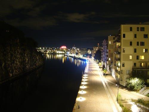 Free stock photo of city, night, sweden