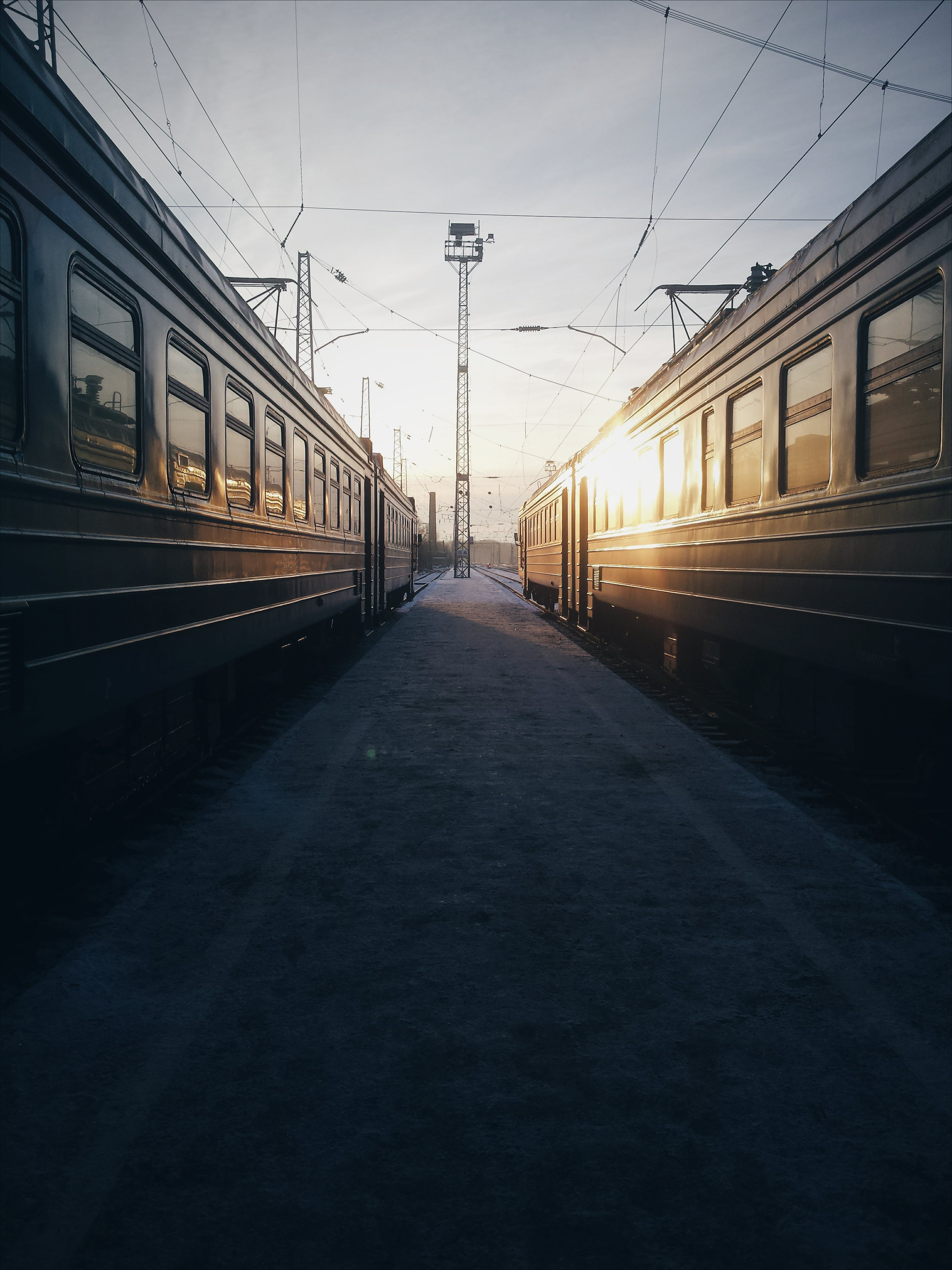 Train During Golden Hour