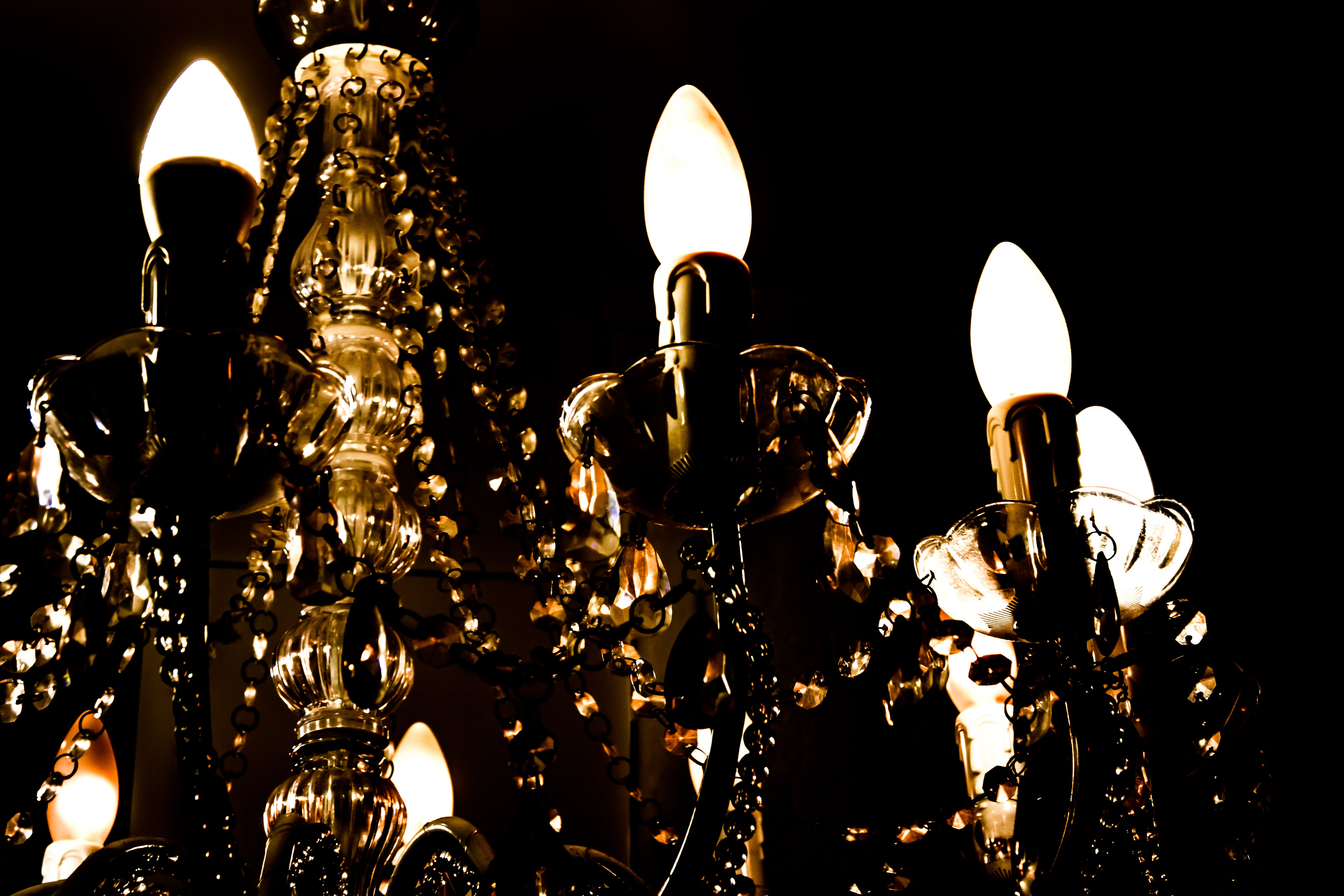 Free stock photo of bright, chandelier, electricity, evening