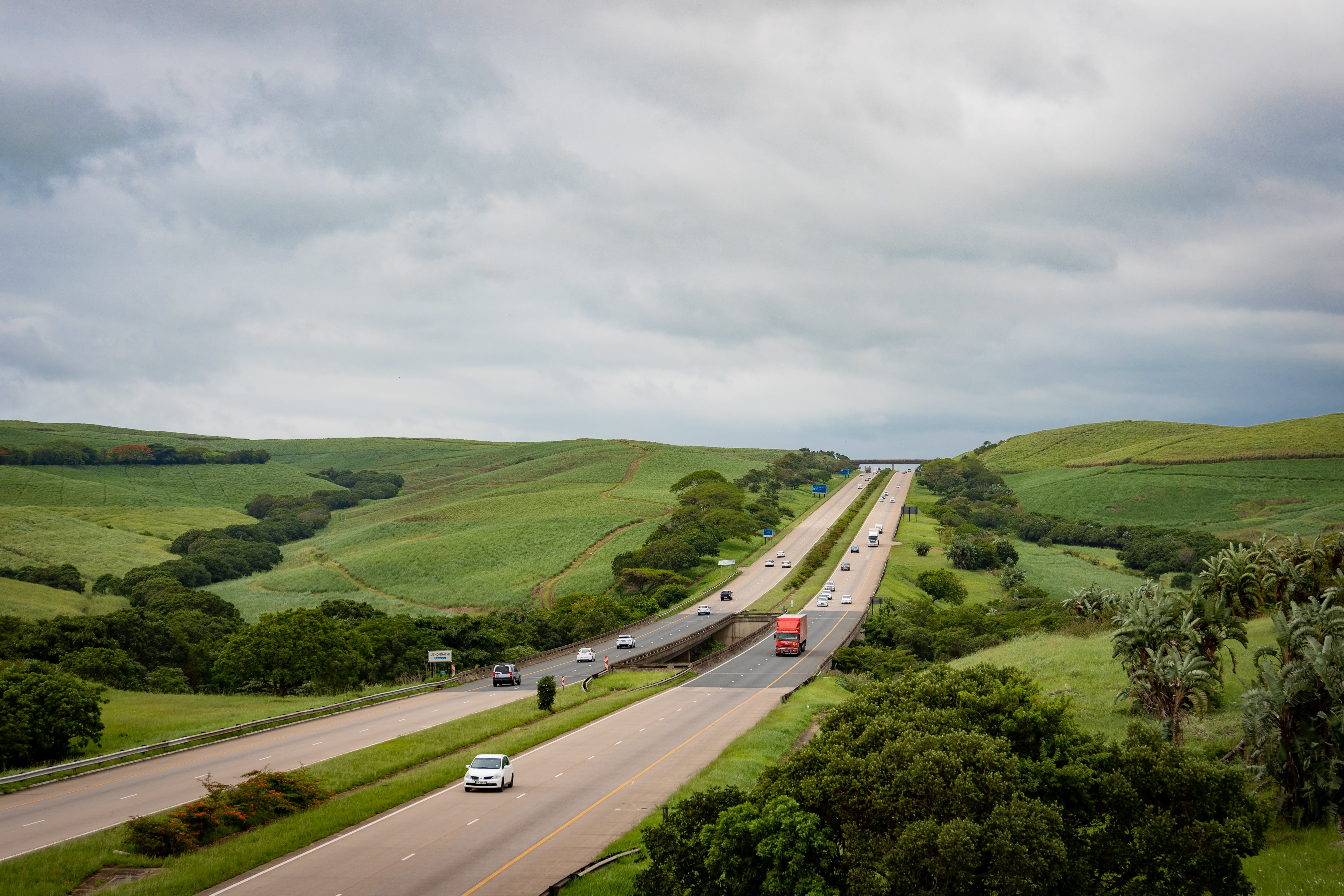 Free stock photo of cars, farms, green, highway