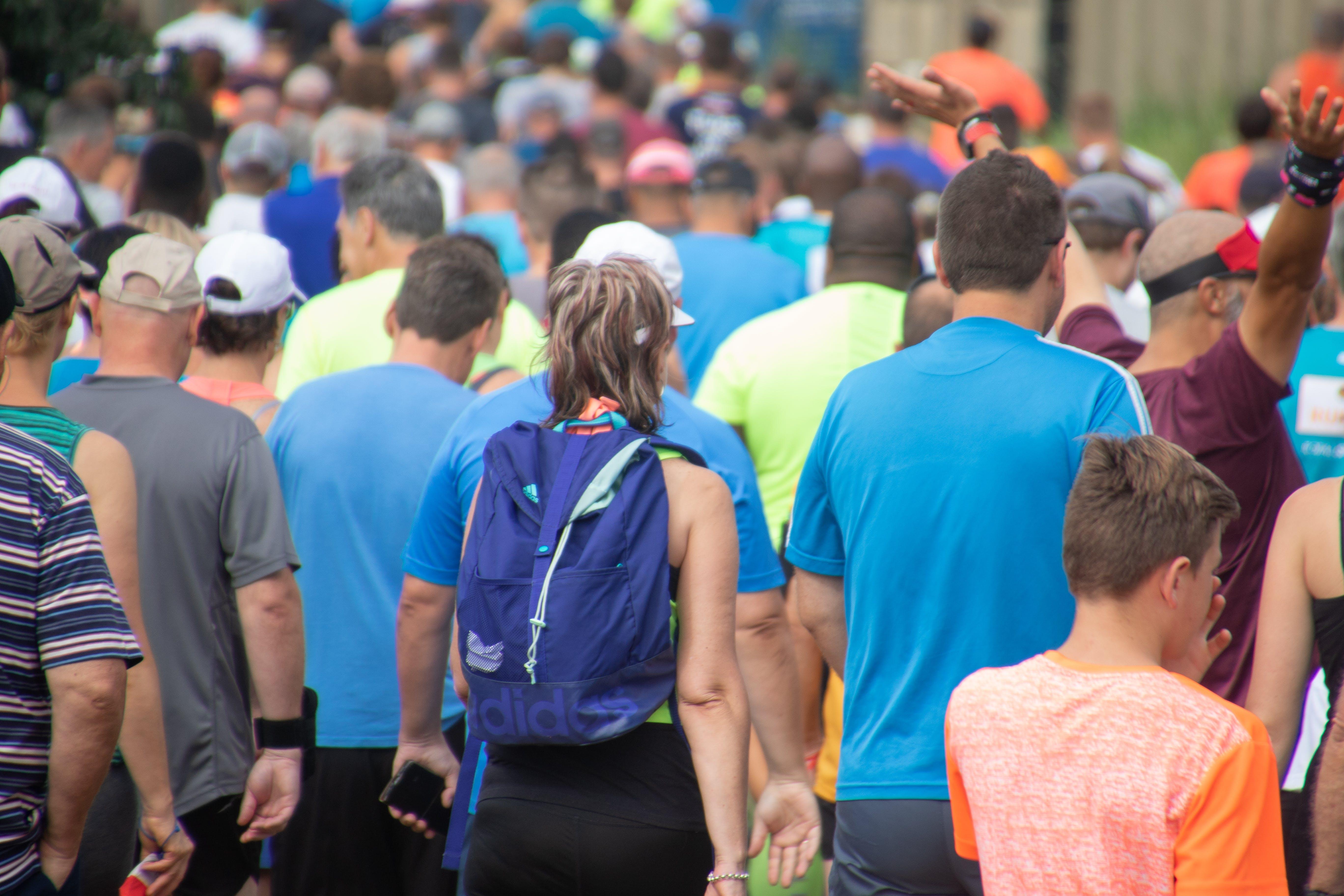 of crowd, exercise, fun, parkrun