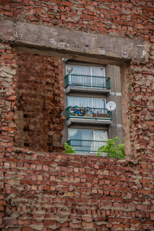 architektur, außen, backsteinmauer