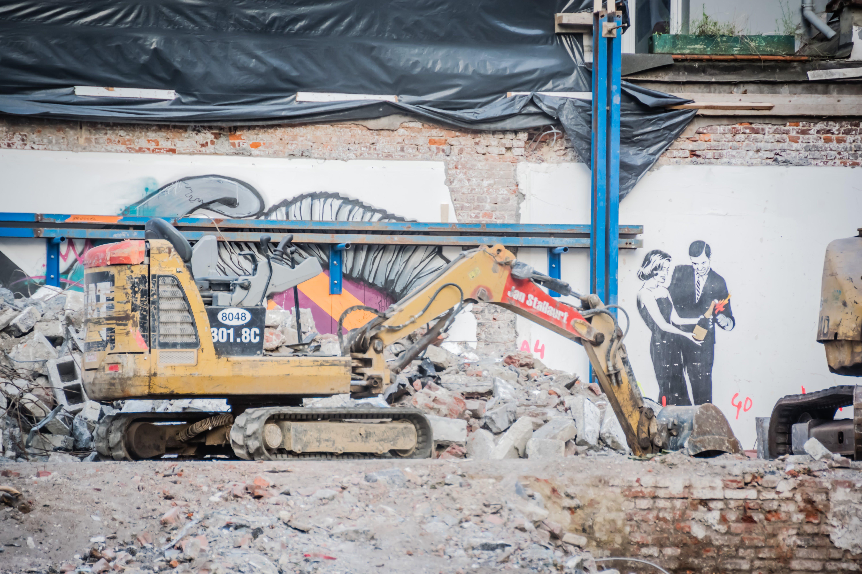 Základová fotografie zdarma na téma bagr, demolice