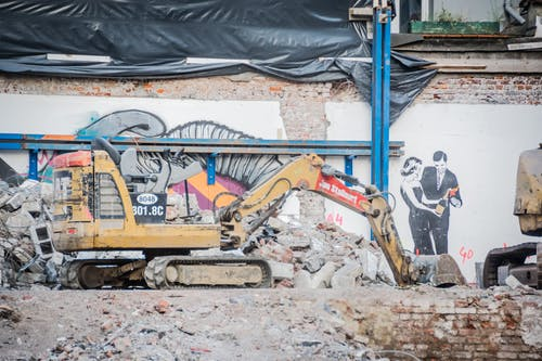 Gratis arkivbilde med demolering, gravemaskin