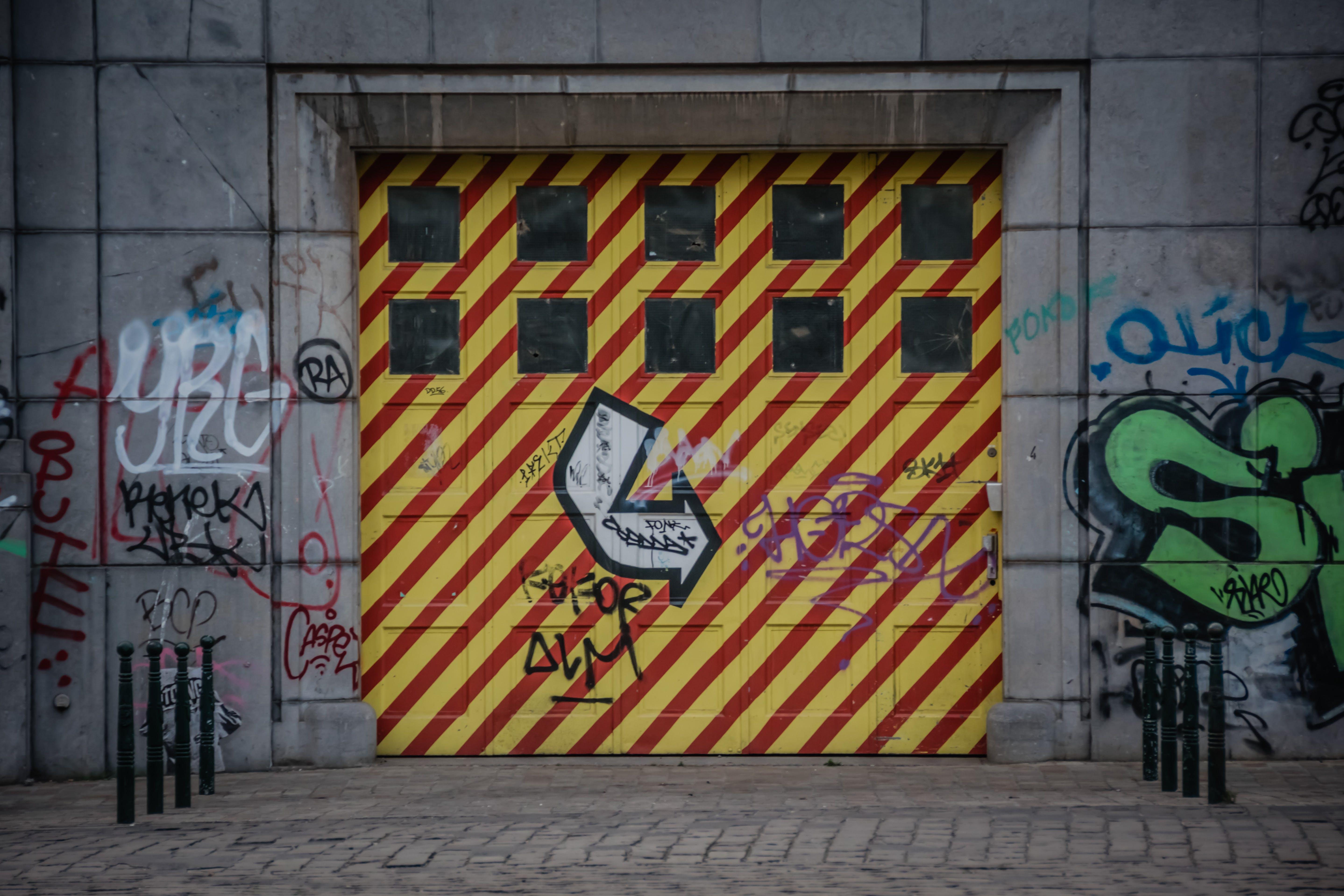 Základová fotografie zdarma na téma graffiti, kontrast
