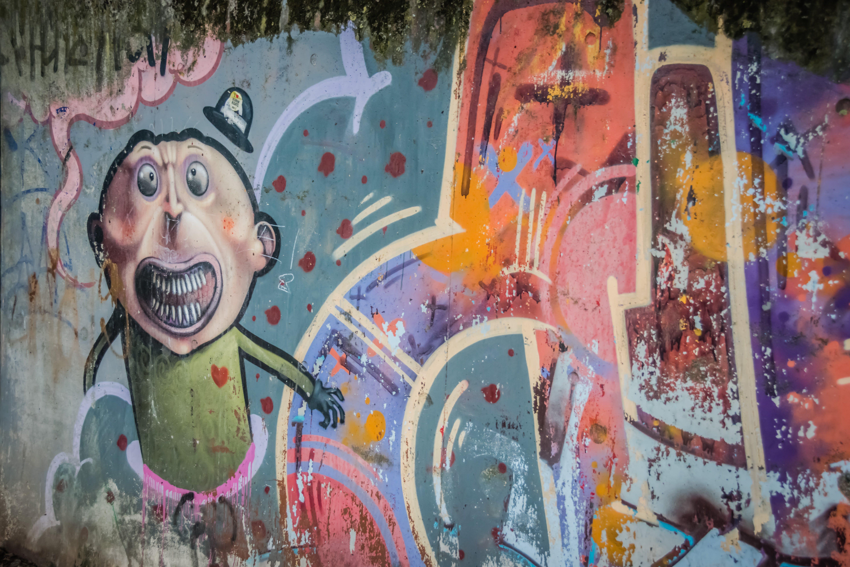 farbe, graffiti, kunst
