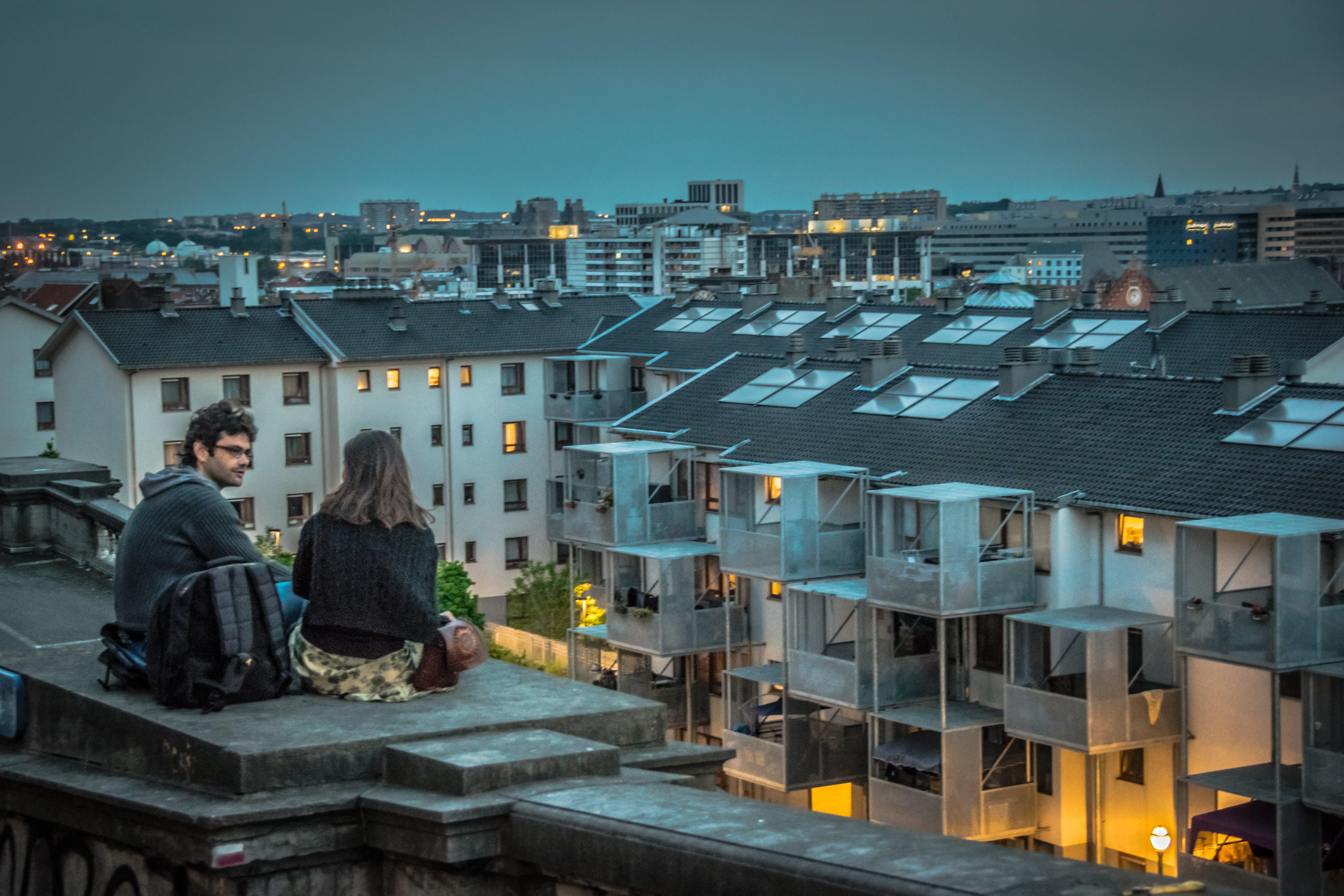 Free stock photo of citylife, couple, dusk, streetphotography