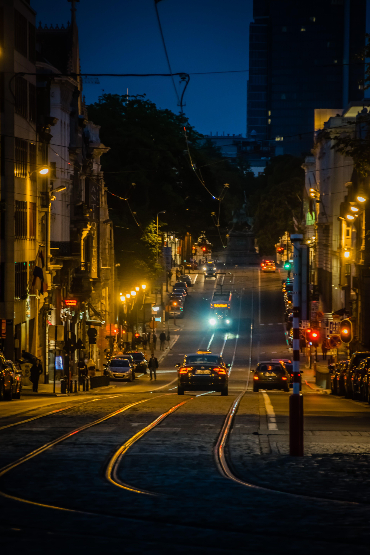 Kostenloses Stock Foto zu brüssel bei nacht, lichter der stadt, nachtleben
