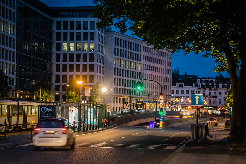 Základová fotografie zdarma na téma burssels, noční život, osvětlení měst