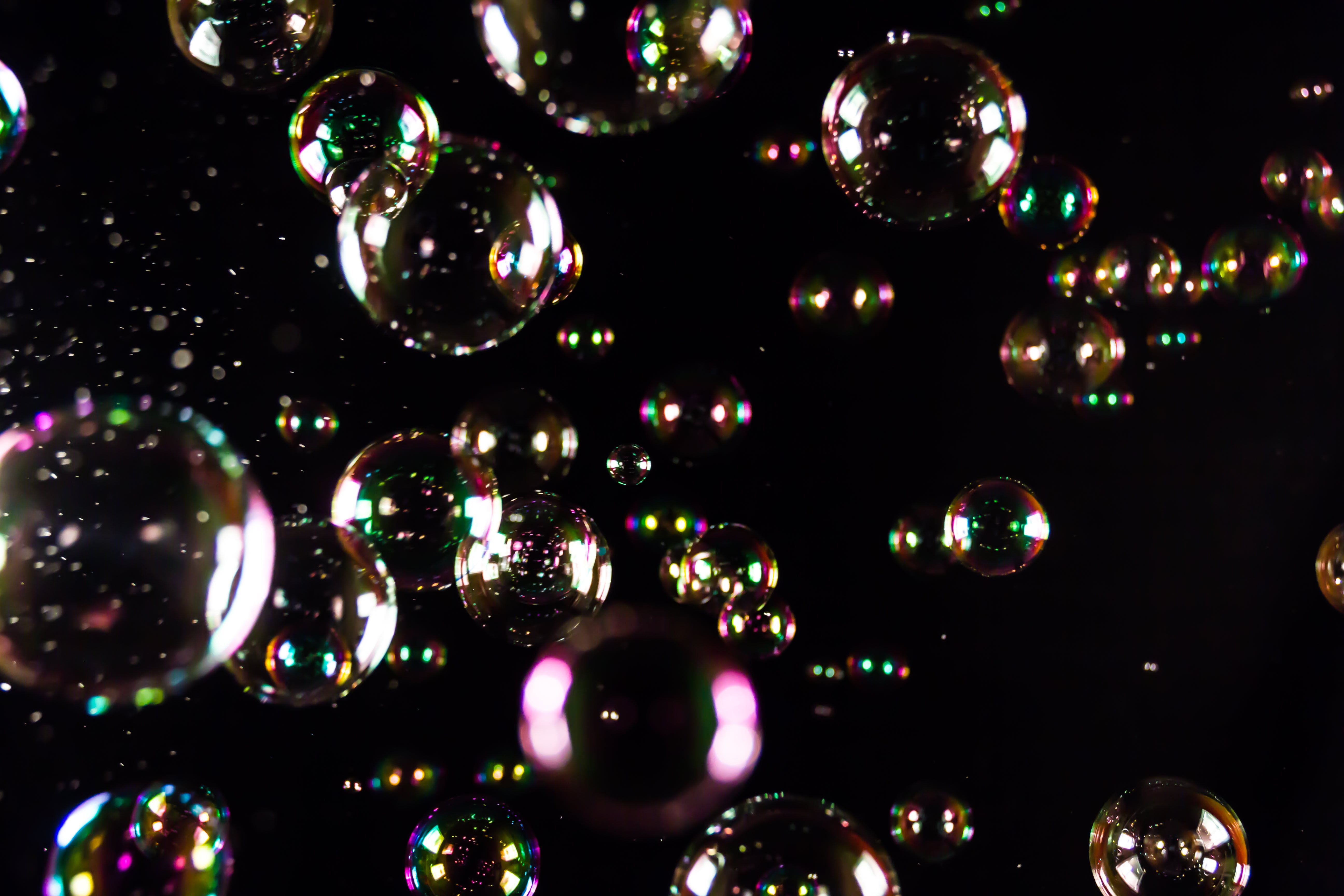 Free stock photo of balloons, black, bubbles, colorful