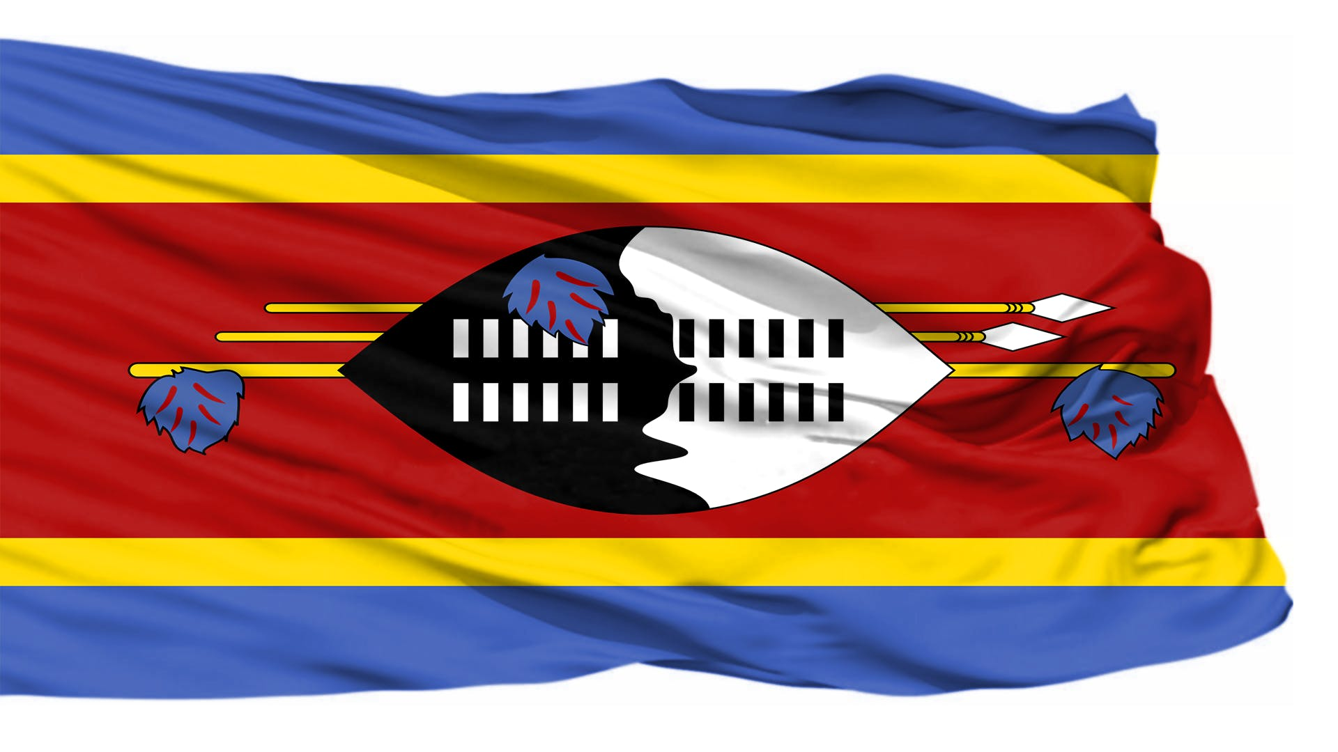 Kostenloses Stock Foto zu blowing flagge, flagge, fliegende flagge, swasiland-flagge