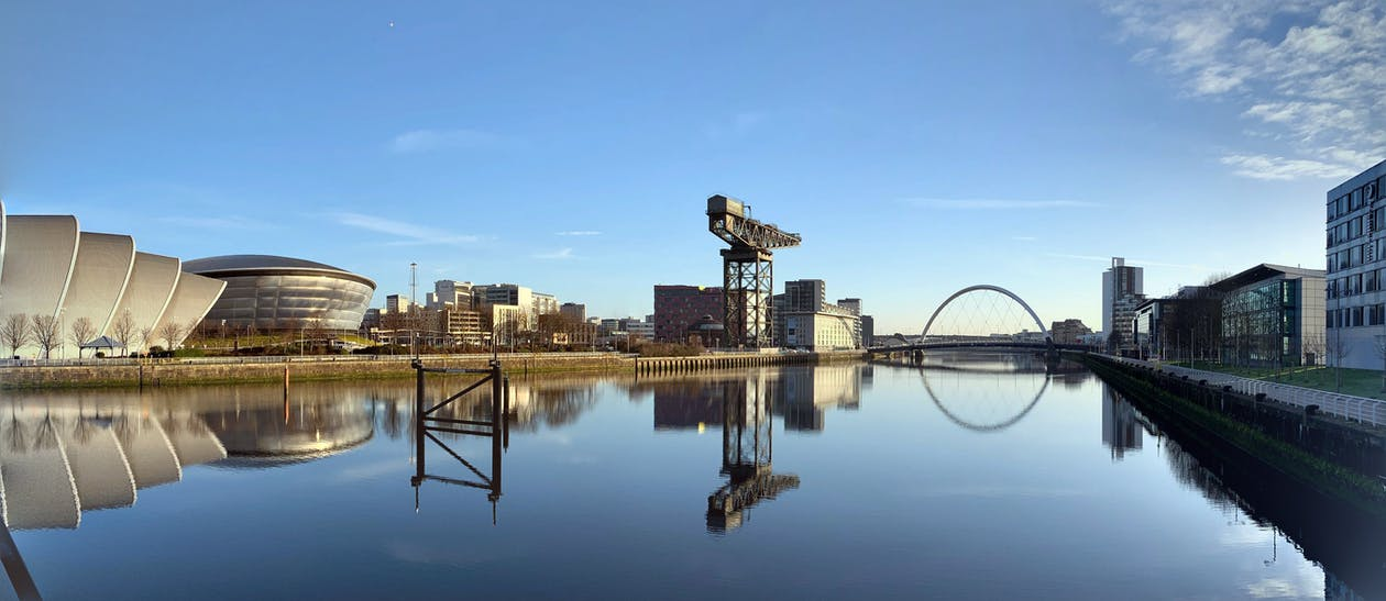 Clyde Auditorium, crane, glasgow