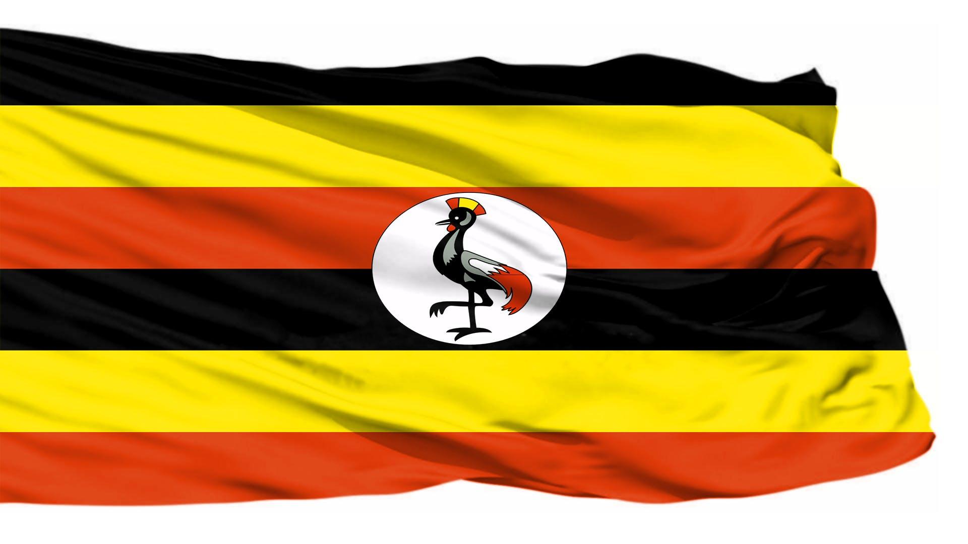 Kostenloses Stock Foto zu flagge, uganda-flagge